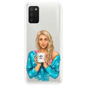Odolné silikonové pouzdro iSaprio - Coffe Now - Blond na mobil Samsung Galaxy A02s