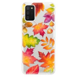 Odolné silikonové pouzdro iSaprio - Autumn Leaves 01 na mobil Samsung Galaxy A02s