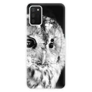 Odolné silikonové pouzdro iSaprio - BW Owl na mobil Samsung Galaxy A02s