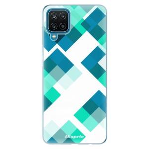 Odolné silikonové pouzdro iSaprio - Abstract Squares 11 na mobil Samsung Galaxy A12
