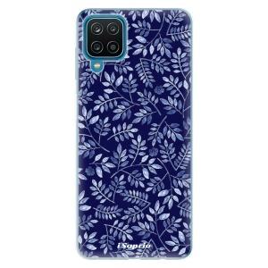Odolné silikonové pouzdro iSaprio - Blue Leaves 05 na mobil Samsung Galaxy A12