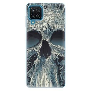 Odolné silikonové pouzdro iSaprio - Abstract Skull na mobil Samsung Galaxy A12