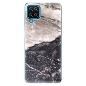 Odolné silikonové pouzdro iSaprio - BW Marble na mobil Samsung Galaxy A12