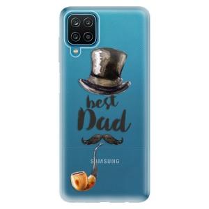 Odolné silikonové pouzdro iSaprio - Best Dad na mobil Samsung Galaxy A12