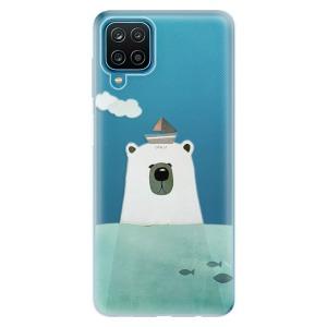 Odolné silikonové pouzdro iSaprio - Bear With Boat na mobil Samsung Galaxy A12