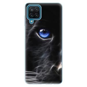 Odolné silikonové pouzdro iSaprio - Black Puma na mobil Samsung Galaxy A12