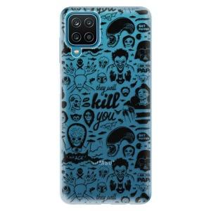 Odolné silikonové pouzdro iSaprio - Comics 01 - black na mobil Samsung Galaxy M12