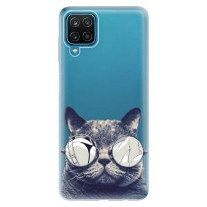 Odolné silikonové pouzdro iSaprio - Crazy Cat 01 na mobil Samsung Galaxy M12