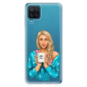 Odolné silikonové pouzdro iSaprio - Coffe Now - Blond na mobil Samsung Galaxy A12