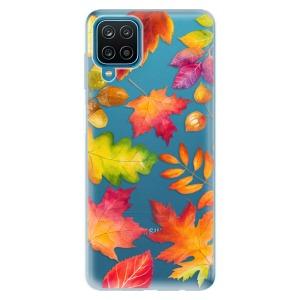Odolné silikonové pouzdro iSaprio - Autumn Leaves 01 na mobil Samsung Galaxy A12