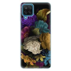 Odolné silikonové pouzdro iSaprio - Dark Flowers na mobil Samsung Galaxy M12