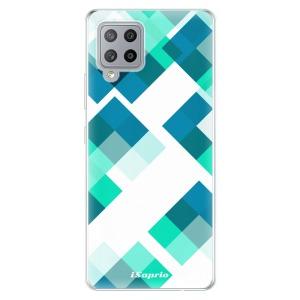 Odolné silikonové pouzdro iSaprio - Abstract Squares 11 na mobil Samsung Galaxy A42 5G