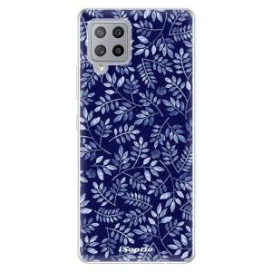 Odolné silikonové pouzdro iSaprio - Blue Leaves 05 na mobil Samsung Galaxy A42 5G