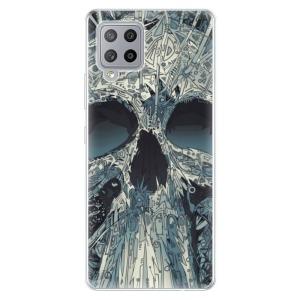 Odolné silikonové pouzdro iSaprio - Abstract Skull na mobil Samsung Galaxy A42 5G