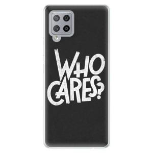 Odolné silikonové pouzdro iSaprio - Who Cares na mobil Samsung Galaxy A42 5G