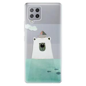Odolné silikonové pouzdro iSaprio - Bear With Boat na mobil Samsung Galaxy A42 5G
