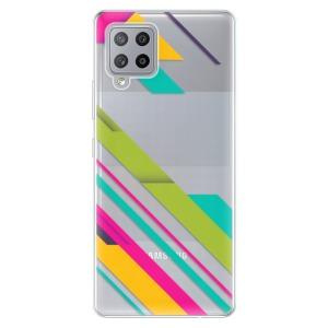 Odolné silikonové pouzdro iSaprio - Color Stripes 03 na mobil Samsung Galaxy A42 5G