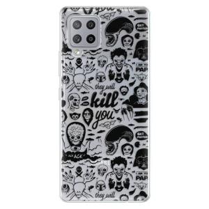Odolné silikonové pouzdro iSaprio - Comics 01 - black na mobil Samsung Galaxy A42 5G