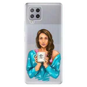 Odolné silikonové pouzdro iSaprio - Coffe Now - Brunette na mobil Samsung Galaxy A42 5G