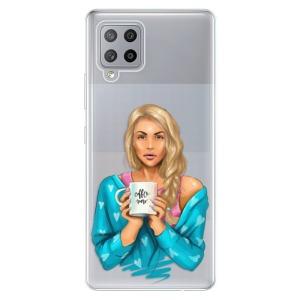 Odolné silikonové pouzdro iSaprio - Coffe Now - Blond na mobil Samsung Galaxy A42 5G