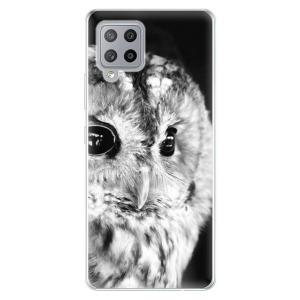 Odolné silikonové pouzdro iSaprio - BW Owl na mobil Samsung Galaxy A42 5G