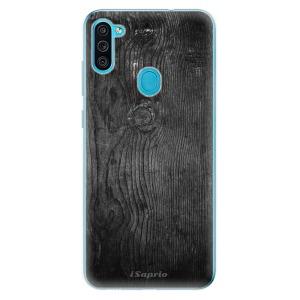 Odolné silikonové pouzdro iSaprio - Black Wood 13 na mobil Samsung Galaxy M11