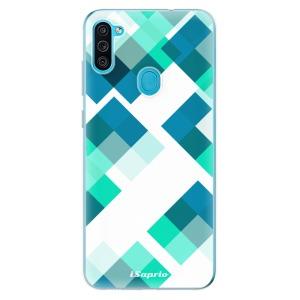 Odolné silikonové pouzdro iSaprio - Abstract Squares 11 na mobil Samsung Galaxy M11