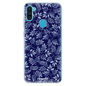 Odolné silikonové pouzdro iSaprio - Blue Leaves 05 na mobil Samsung Galaxy M11