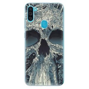 Odolné silikonové pouzdro iSaprio - Abstract Skull na mobil Samsung Galaxy M11