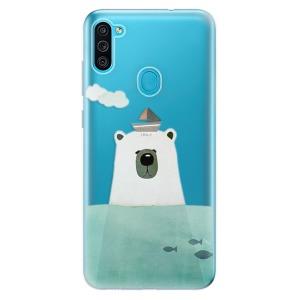 Odolné silikonové pouzdro iSaprio - Bear With Boat na mobil Samsung Galaxy M11