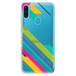 Odolné silikonové pouzdro iSaprio - Color Stripes 03 na mobil Samsung Galaxy M11