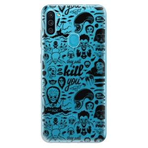 Odolné silikonové pouzdro iSaprio - Comics 01 - black na mobil Samsung Galaxy M11