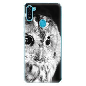 Odolné silikonové pouzdro iSaprio - BW Owl na mobil Samsung Galaxy M11