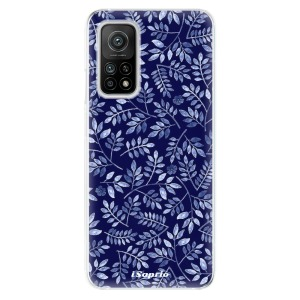 Odolné silikonové pouzdro iSaprio - Blue Leaves 05 na mobil Xiaomi Mi 10T / Xiaomi Mi 10T Pro  - výprodej