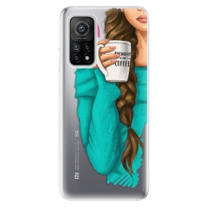 Odolné silikonové pouzdro iSaprio - My Coffe and Brunette Girl na mobil Xiaomi Mi 10T / Xiaomi Mi 10T Pro