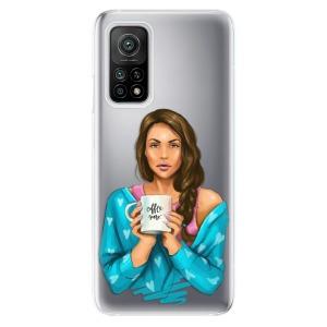 Odolné silikonové pouzdro iSaprio - Coffe Now - Brunette na mobil Xiaomi Mi 10T / Xiaomi Mi 10T Pro