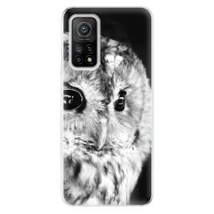 Odolné silikonové pouzdro iSaprio - BW Owl na mobil Xiaomi Mi 10T / Xiaomi Mi 10T Pro