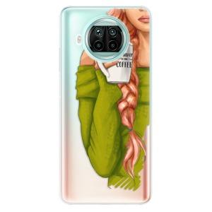 Odolné silikonové pouzdro iSaprio - My Coffe and Redhead Girl na mobil Xiaomi Mi 10T Lite