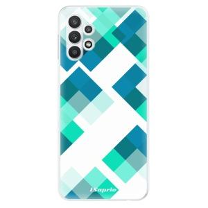 Odolné silikonové pouzdro iSaprio - Abstract Squares 11 na mobil Samsung Galaxy A32 5G