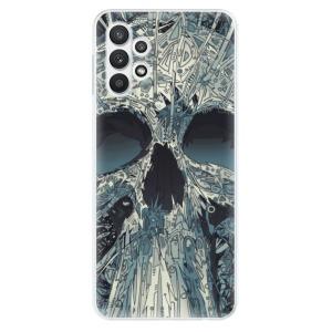 Odolné silikonové pouzdro iSaprio - Abstract Skull na mobil Samsung Galaxy A32 5G