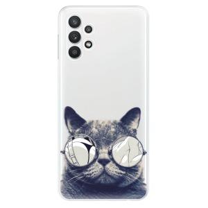 Odolné silikonové pouzdro iSaprio - Crazy Cat 01 na mobil Samsung Galaxy A32 5G - rozbaleno
