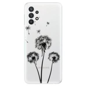 Odolné silikonové pouzdro iSaprio - Three Dandelions - black na mobil Samsung Galaxy A32 5G - rozbaleno
