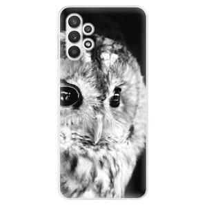 Odolné silikonové pouzdro iSaprio - BW Owl na mobil Samsung Galaxy A32 5G