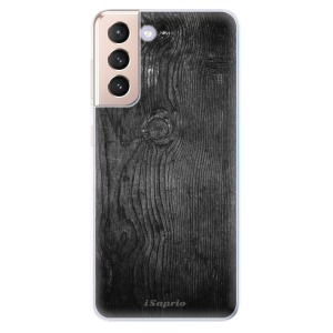 Odolné silikonové pouzdro iSaprio - Black Wood 13 na mobil Samsung Galaxy S21 5G