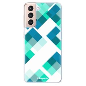 Odolné silikonové pouzdro iSaprio - Abstract Squares 11 na mobil Samsung Galaxy S21 5G
