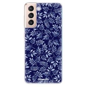 Odolné silikonové pouzdro iSaprio - Blue Leaves 05 na mobil Samsung Galaxy S21 5G