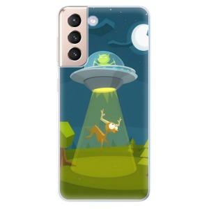 Odolné silikonové pouzdro iSaprio - Alien 01 na mobil Samsung Galaxy S21 5G