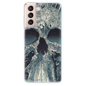 Odolné silikonové pouzdro iSaprio - Abstract Skull na mobil Samsung Galaxy S21 5G
