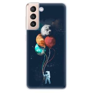 Odolné silikonové pouzdro iSaprio - Balloons 02 na mobil Samsung Galaxy S21 5G