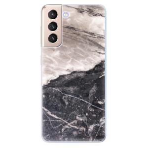 Odolné silikonové pouzdro iSaprio - BW Marble na mobil Samsung Galaxy S21 5G